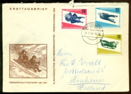 DDR 1966 Ersttagsbrief Rennrodel Weltmeisterschaften Mi 1156-1158 - FDC: Enveloppes