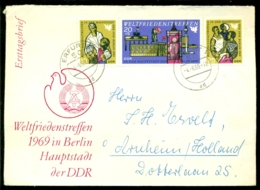 DDR 1969 Ersttagsbrief Weltfriedenstreffen Berlin Mi Dreierstreifen 1478-1480 - FDC: Enveloppes