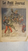 LE PETIT JOURNAL  OCTOBRE  1896 SATIRIQUE LE NEZ DE LA TRIPLICE  AVEC CASQUE A POINTE ET LA NOUBA DES TURCOS - Journaux - Quotidiens