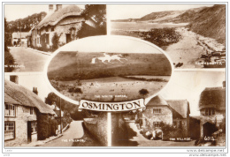 CA53.Vintage Postcard.Multiview Of Osmington,Dorset.The White Horse. - England