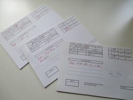 3 Alte Auktionslose Mit Prüfkarten! Z.B. Am Post / Berlin Mit Schwarzaufdruck Geprüft Schlegel Und Germania Papier Y - Deutschland