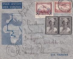 Lettre Raid Léopold Roger Liège Congo Belge 1935 - Poste Aérienne