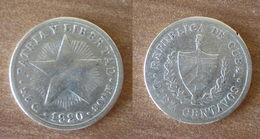 Cuba 10 Centavos 1920 Star Silver Argent Centavo Que Prix + Port Pesos Skrill Paypal Bitcoin - Cuba