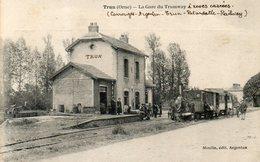 - 61 - TRUN (Orne). - La Gare Du Tramway - Cpa Très Rare - - Trun
