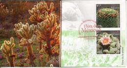 MEXIQUE. Fleurs De Cactus Mammillaria & Peyote .  FDC Année 2015 - Cactus