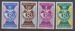 Rwanda 1963 UPU 4v ** Mnh (41055) - 1962-69: Ongebruikt