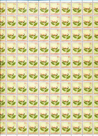 BELGIAN CONGO 1952 ISSUE FLOWERS COB 303 FULL SHEET MNH - Feuilles Complètes