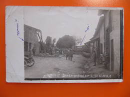 Photo Originale - SOUILLY - BOMBARDEMENT PAR AVION DU 25.8.17 - Format CPA - Lieux
