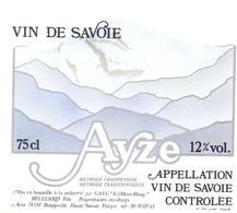 Etiket Etiquette - Vin - Wijn - Vin De Savoie - Ayze - Non Classés