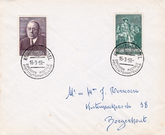 Bruxelles 1959 Belgique Exposition Postale Post Tentoonstelling Edouard Anseele Charles Quint Serment J.B. De Tassis - Belgique