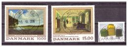 DANIMARCA  - INSIEME DI TRE FRANCOBOLLI USATI/ VFU - Denmark