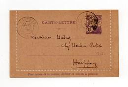 !!! PRIX FIXE : INDOCHINE, ENTIER POSTAL CL 13 CACHET DE HAIPHONG (TONKIN) DE 1920 POUR HAIPHONG - Indochine (1889-1945)