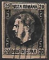ROUMANIE      -     1866.     Y&T N° 16 Oblitéré . - 1858-1880 Moldavia & Principato