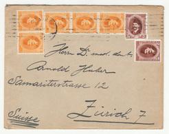 Egypt Letter Cover Travelled 194? To Switzerland B181025 - Egypt