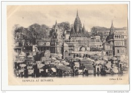 CM97.Vintage Undivided Postcard. Temple At Benares, India. - India