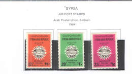 Syria PA 1964 UPU  Scott.C 327/329 New See Scan On Scott.Page; - Siria