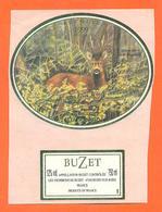 étiquette De Vin De Buzet L'instant Nature 1999 à Buzet Sur Baise - 75 Cl - Chevreuil - Chasse