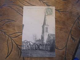Lescheroux église Et Place  Groupe Personnages - Autres Communes