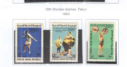 Syria PA 1965 18 Olimpics Tokyo Scott.C 333/335 New See Scan On Scott.Page; - Siria