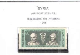 Syria PA 1965 Ippocrate E Avicenna  Scott.C 340 New See Scan On Scott.Page; - Siria