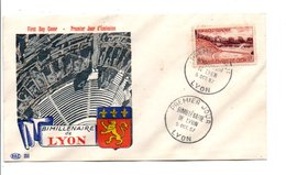FDC 1957 BIMILLENAIRE DE LYON - 1950-1959