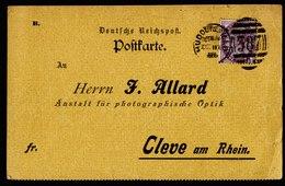 A5676) UK Grossbritannien Deutsche Werbekarte Huddersfield 1895 Retour N. Cleve / Germany - 1840-1901 (Victoria)