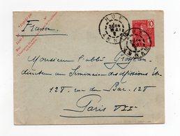 !!! PRIX FIXE : INDOCHINE, ENTIER POSTAL DE HUE (ANNAM) POUR PARIS DE 1908 - Briefe U. Dokumente