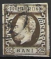 ROUMANIE      -     1871.     Y&T N° 30 Oblitéré . - 1858-1880 Moldavia & Principato