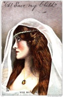 CQ66.Antique Tucks Postcard. Actress Miss Maudi Darrell - Entertainers