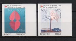2161/2162 RODE KRUIS ONGETAND POSTFRIS** 1985 - Belgique