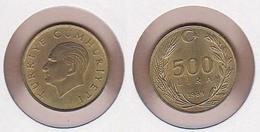 AC - TURKEY 500 LIRA 1989 BRASS COIN KM # 989 UNCIRCULATED - Monnaies & Billets