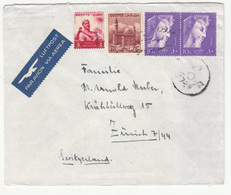Egypt Letter Cover Travelled Air Mail 195? To Switzerland B181025 - Egypt
