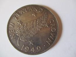 New Zealand: Crown 1949 (silver) - Nouvelle-Zélande