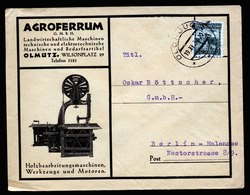 A5677) Czechoslovakia Werbebrief Olmouce 19.11.30 N. Berlin - Briefe U. Dokumente