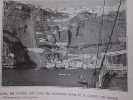1925 Une éruption Volcanique  Dans Les Cyclades ILE SANTORIN    Nouvelle Kaymeni  Port De THERA - Old Paper