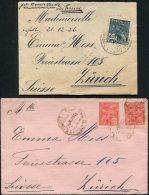 1920s Brazil 2 X Covers - Zurich Switzerland - Brazil