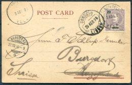 1906 Portugal Angra Azores. Ponta Delgada Postcard -  Burgdorf Switzerland Via Lisboa - Angra