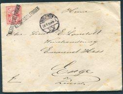 1884 Switzerland Kleinandelfingen Andelfingen Zurich Cover - Emile Landholt, Enge - Cartas