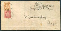 1879 Switzerland Sursee Charge 10c + 20c Sitting Halvetia Cover - 1862-1881 Helvetia Assise (dentelés)