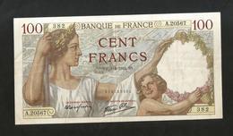 "FRANCE - BANQUE De FRANCE - 100 Francs ""SULLY"" - ( SY 3 - 4 - 1941  ) - 1871-1952 Antichi Franchi Circolanti Nel XX Secolo"