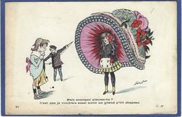 CPA Sager Xavier Art Nouveau Femme Girl Women écrite CM 81 Chapeau - Sager, Xavier