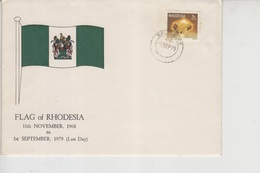 Rhodesia FDC, Flag, Jem,  (Red-2429) - Zambezia