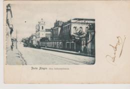 Cpa Brazil Bresil Porto Alegre Rua Independencia  1905 Stempel Paquebot Paquete - Porto Alegre
