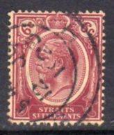 Malaya Straits Settlements GV 1921-33 6c Dull Claret, Wmk. Multiple Script CA, Used, SG 227 - Straits Settlements