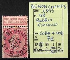 D - [822763]Belgique 1893 - N° 58, Benonchamps, Relais Concours - 1893-1900 Thin Beard