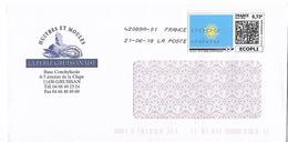 Montimbrenligne 0.73€ Soleil Jaune Sur Fond Bleu Toshiba Enveloppe Illustrée Huitres Et Moules Gruissan Aude - France