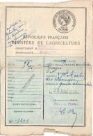 Permis De Chasse   Yonne     St Martin Des Champs      Garde Champêtre    1946   état Voir Scan - Vieux Papiers
