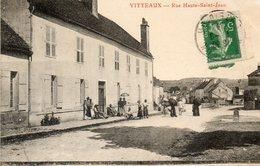 CPA - VITTEAUX (21) - Aspect De La Rue Haute-Saint-Jean En 1913 - Autres Communes