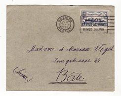 Lettre De 1935   Avec Timbre Paquebot Normandie   Cachet De BEZIERS - France
