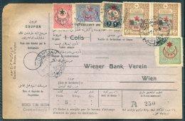 1916 Turkey Parcelcard Constantinople - Wien. 'Der Saadat-Paket Mersula No 1'. Wiener Bank - 1858-1921 Ottoman Empire